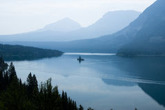 Saint Mary Lake. Wild Goose Island on Saint Mary Lake in Glacier National Park Stock Images