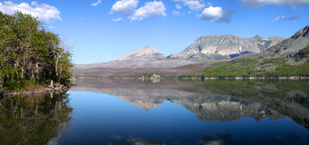 Saint Mary lake in Glaciers Stock Image