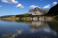 Saint Mary lake in Montana Royalty Free Stock Images
