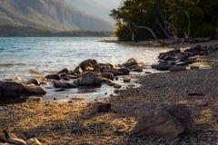 Saint Mary Lake stock image