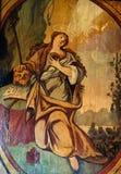 Saint Mary Magdalene. Altarpiece in the Church of the Saint Barbara in Velika Mlaka, Croatia stock images