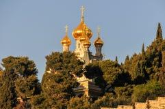 Saint Mary Magdalene - Jerusalem, Israel stock photography