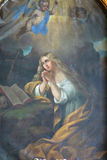 Saint Mary Magdalene. Painting on the church altar royalty free stock photos
