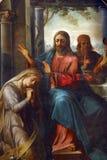 Saint Mary Magdalene. Painting on the church altar stock photos