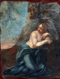 Saint Mary Magdalene. Painting on the church altar royalty free stock image