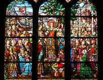 Saint Mary Magdalene. Stained glass, Saint Severin church, Paris, France Stock Images