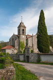 Saint Mary of Melon Monastery. Church of the Cisterian Monastery of Saint Mary of Melon, Ourense, Spain Royalty Free Stock Images