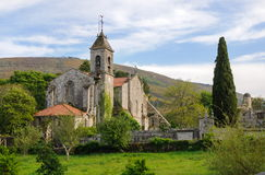 Saint Mary of Melon Monastery. Church of the Cisterian Monastery of Saint Mary of Melon, Ourense, Spain Stock Images