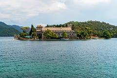 Saint Mary monastery on Mljet island - Croatia stock photos