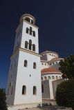 Saint Mary Pantanasa Orthodox Church da torre de Bell, Paphos fotos de stock