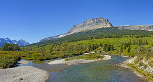 Saint Mary River, Glacier National Park Stock Images