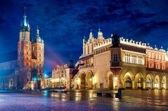 Saint Mary`s Basilica in Krakow Poland Royalty Free Stock Photos
