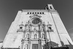 The Saint Mary`s Cathedral in Gerona, Spain Royalty Free Stock Images