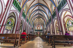 Saint Mary's Cathedral at Yangon royalty free stock image