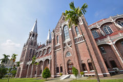 Saint Mary's Cathedral at Yangon Myanmar. Side view of Saint Mary's Cathedral at Yangon Myanmar. This is a Catholic cathedral located on Bo Aung Kyaw Street in Stock Image