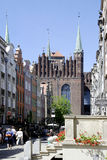 Saint Mary's Church of Gdansk in Poland Royalty Free Stock Photography