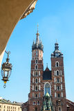 Saint Mary´s Church in the Rynek Glowny, Krakow. Saint Mary´s Church in the Rynek Glowny ,Market Main Square in Krakov, Poland, Europe Royalty Free Stock Photo