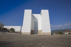 Saint Mary`s Curch aka Igreja de Santa Maria, Marco de Canaveses, Portugal. Ex-libris of twentieth-century religious architecture. With its simple and stock images