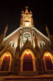 Saint Marys Church at Night Royalty Free Stock Photography