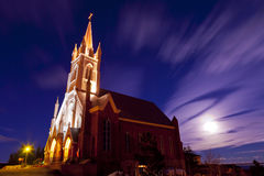 Saint Marys Church at Night Royalty Free Stock Images
