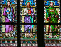 Saint Mathias, Barnabas and Stephen - Stained Glass Royalty Free Stock Photo