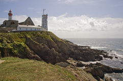Saint Mathieu lighthouse in Britain  Stock Photo