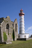 Saint Mathieu lighthouse in Britain Royalty Free Stock Photography