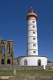 Saint Mathieu lighthouse in Britain Stock Image