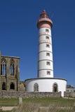 Saint Mathieu lighthouse in Britain Stock Image
