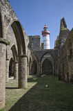 Saint Mathieu lighthouse in Britain Royalty Free Stock Photo