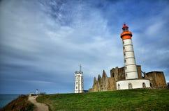 Saint Mathieu lighthouse, Brittany Stock Images