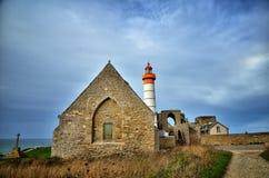 Saint Mathieu lighthouse, Brittany Stock Photos