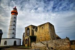 Saint Mathieu lighthouse, Brittany Royalty Free Stock Photos