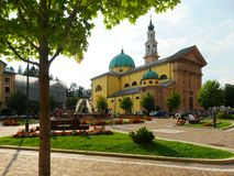Saint Matteo Apostolo and Evangelista Church main square Stock Image