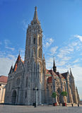 Saint Mattew gothic church in Budapest city Stock Image