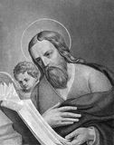 Saint Matthew. On engraving from 1859. One of the twelve Apostles of Jesus and one of the four Evangelists. Engraved by C.Barth and published in Meyers Stock Photography