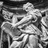 Saint Matthew. Statue of St. Matthew at the Basilica of St. John Lateran in Rome. Please look at my images of the other saints from this church Stock Image