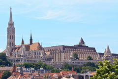 Saint Matthias church and Fisherman Bastion Royalty Free Stock Images