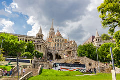 Saint Matthias church and Fisherman's bastion in Budapest Hungar Royalty Free Stock Image