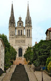 Saint Maurice. Cthedral in Angers, france Stock Images