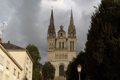 Saint-Maurice Cathedral, Angers in France Royalty Free Stock Photos