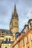 Saint Maurice Cathedral of Angers in France Royalty Free Stock Photography