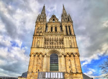 Saint Maurice Cathedral of Angers in France Stock Photo