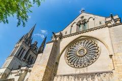 Saint Maurice Cathedral de irrita, França imagens de stock royalty free