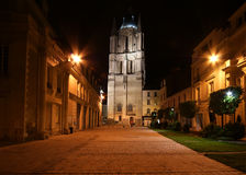 Saint-Maurice Cathedral at night, Angers Stock Photo