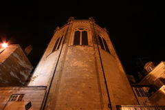 Saint-Maurice Cathedral at night, Angers in France Stock Photo