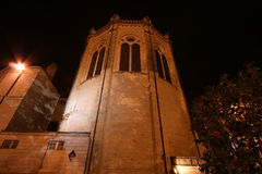 Saint-Maurice Cathedral at night, Angers in France Royalty Free Stock Image