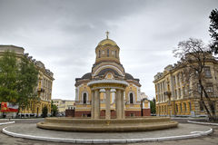 Saint Mefodiy and Kirill's  temple at the Saratov state university. Stock Photo