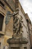 Saint Michael archangel sculpture at the ancient Castel Sant`Angelo Royalty Free Stock Photos