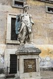Saint Michael archangel sculpture at the ancient Castel Sant`Angelo Royalty Free Stock Photography